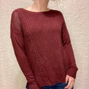American Eagle Outfitters Light Cable Knit Crew Ne
